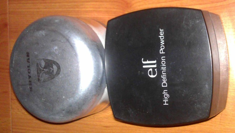 Kryolan Anti-Shine Powder (Used); E.L.F. HD Powder (Used)