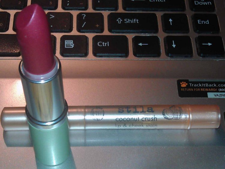 Clinique High Impact Lipstick SPF 15 - 19 EXTREME PINK (New); Stila Lip & Cheek Stain - COCONUT CRUSH (New)