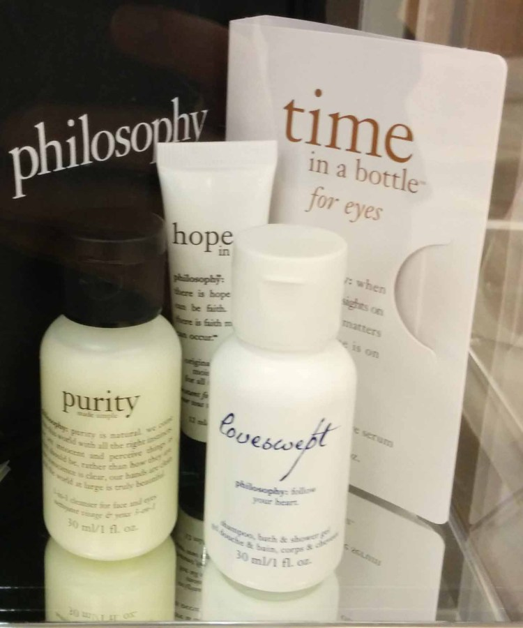 Philosophy. Gift with ~75 purchase.